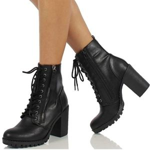 Soda Malia Lace Up Ankle Booties 6